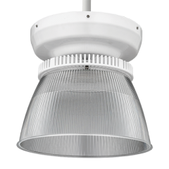 Lithonia Lighting Round High Bay, Diffuse Aluminum, 4000K, 6ft Cord with Steel Hook (no plug)