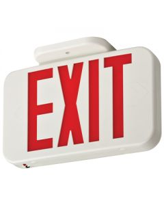 Lithonia Lighting Contractor Select Thermoplastic LED Emergency Exit, Red Exit, Emergency