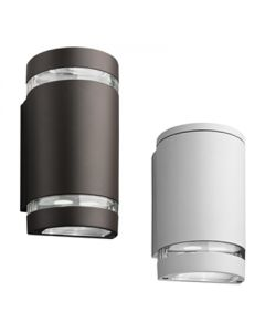 Lithonia Lighting LED Wall Cylinder Light, Up and Down Light, Package 1, 4000K, 120-277V, Dark Bronze Finish