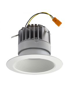 Lithonia Lighting 4 inch Matte White Baffle LED Module, 3000K, 83 CRI, 620lm