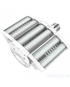 80 Watt LED Shoe Box Lamp - Ballast Bypass - Mogul Base - 5000K - 10,000 Lumens - 120-277V