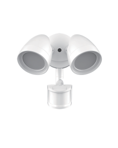 ETI 2-head Dusk to Dawn Security Light with Motion Sensor (White)