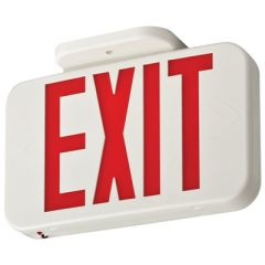 Lithonia Lighting Contractor Select Thermoplastic LED Emergency Exit, Red Exit