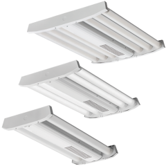 Lithonia Lighting IBG LED High Bay-18000lm-Standard Efficiency-Acrylic, Frosted-General-120-277 VAC-0-10V Dimming-5000-80-Gloss White
