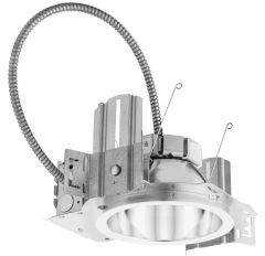 Lithonia 6 inch LED New Construction Commercial Downlight, 120/277 V, Housing-4000-1500lm-Multi-volt-Dims to 10% (0-10V dimming)