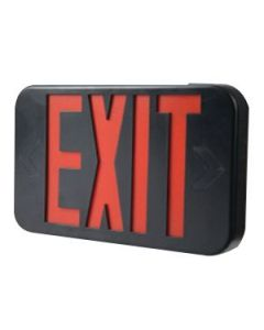 LED EXIT Sign w/ Maintenance Free NiCad Battery-Black-Red Letters