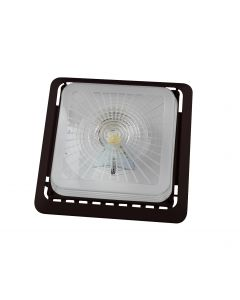 ASD LED Canopy w/ j-box 55W 4000K 6900lm 125lm/w UL DLC PRM Bronze DIM w/ Emergency Back UP