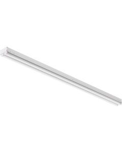 Lithonia Lighting LED Contractor Dual Striplight, Dimming, White Finish