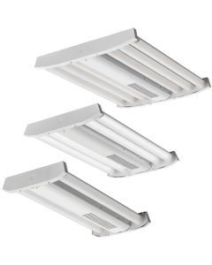 Lithonia Lighting IBG LED High Bay-12000lm-Standard Efficiency-Acrylic, Frosted-General-120-277 VAC-0-10V Dimming-4000-80-Gloss White