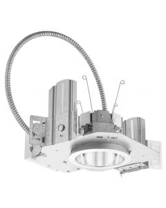 Lithonia Lighting LDN 4 Round, 120/277 V, Housing-3500-1500lm-Multi-volt-Dims to 10% (0-10V dimming)
