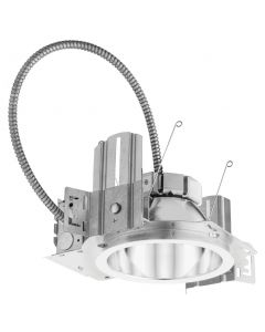 Lithonia 6 inch LED New Construction Commercial Downlight, 120/277 V, Housing-3500-1500lm-Multi-volt-Dims to 10% (0-10V dimming)