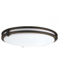 Lithonia Lighting 13 inch Round Saturn LED Flush/Semi-Flush mount, 80 CRI-3000-Antique Bronze