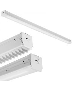 """Lithonia Lighting Z Series LED Strip Light-48""""-Less reflector-5000lm-Snap on frosted, diffuse-120-277 VAC-5000-80-White"""